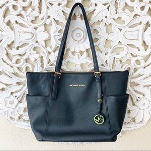 {Michael Kors} Black Jet Set Travel Tote